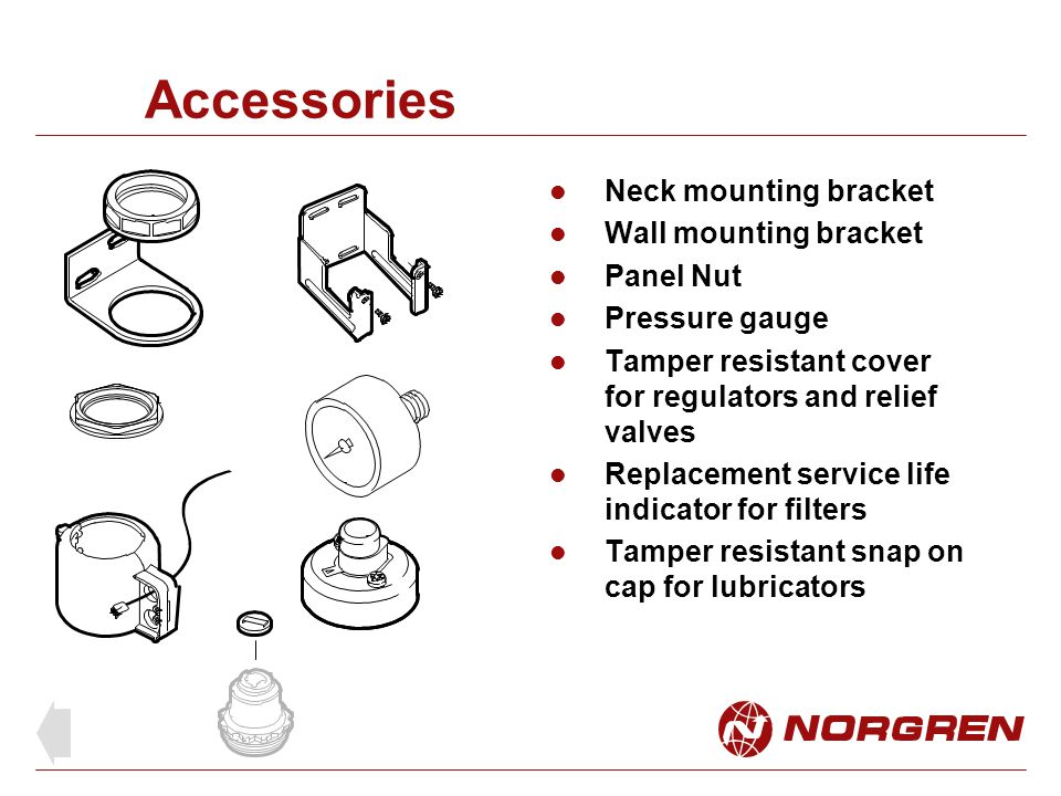 Accessories Neck mounting bracket Wall mounting bracket Panel Nut
