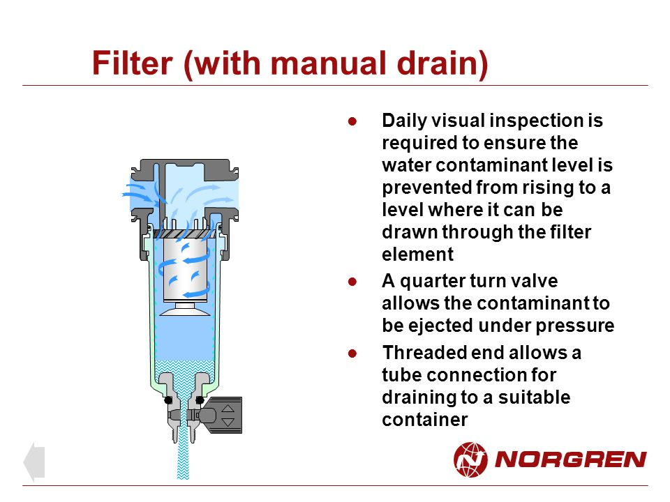 Filter (with manual drain)