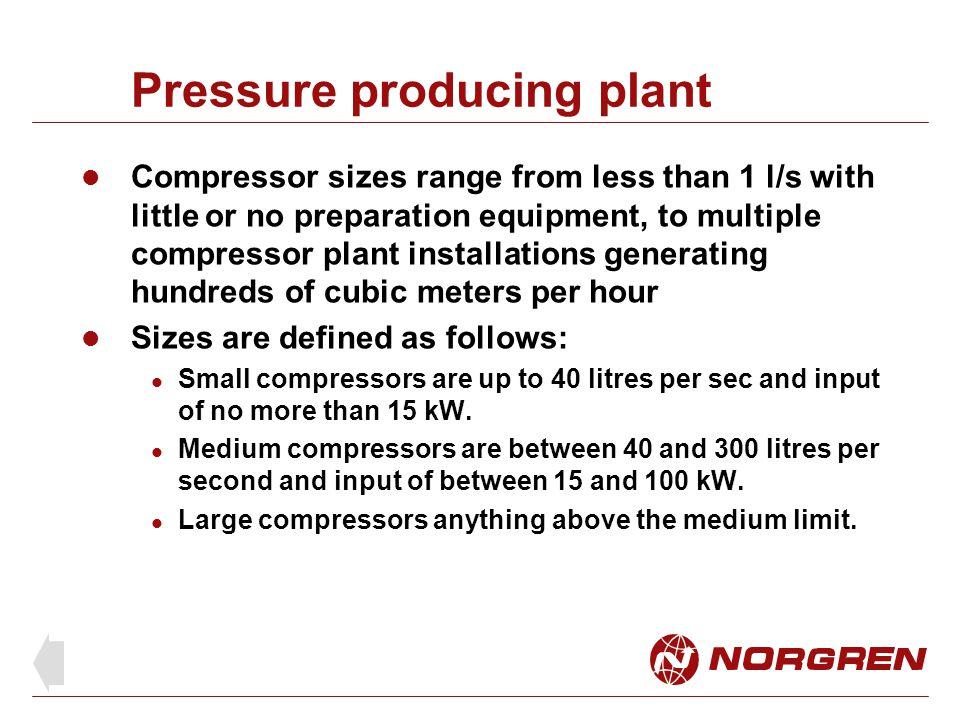 Pressure producing plant