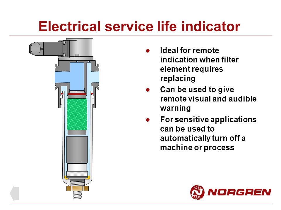 Electrical service life indicator