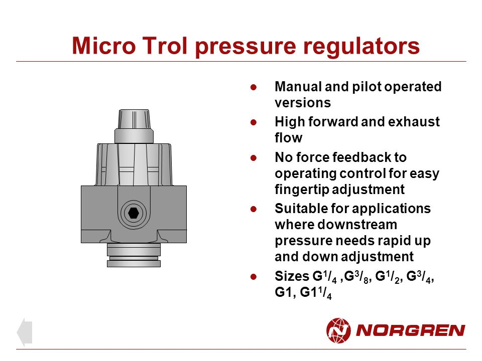 Micro Trol pressure regulators