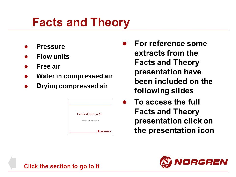 Facts and Theory For reference some extracts from the Facts and Theory presentation have been included on the following slides.
