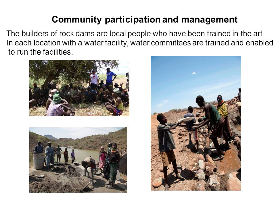 Community participation and management