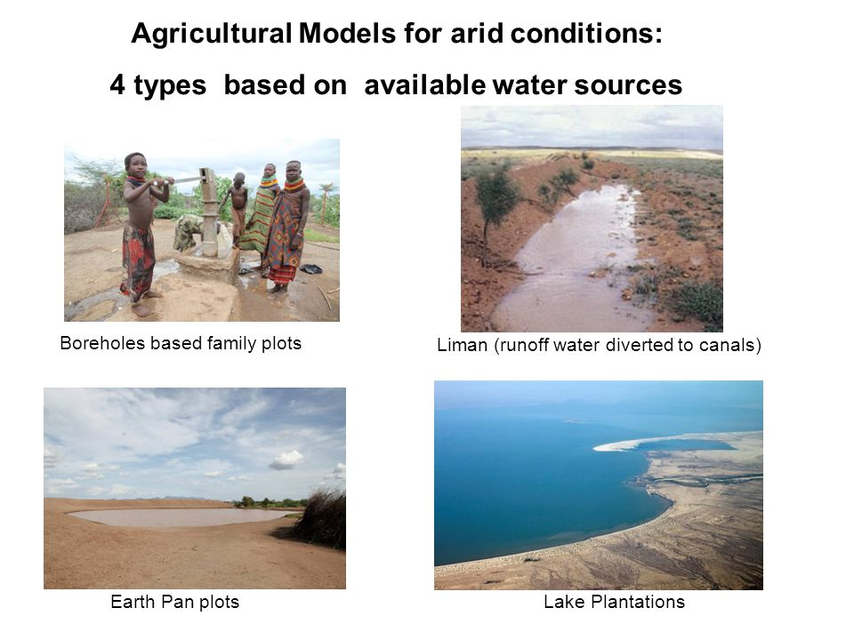 Agricultural Models for arid conditions: