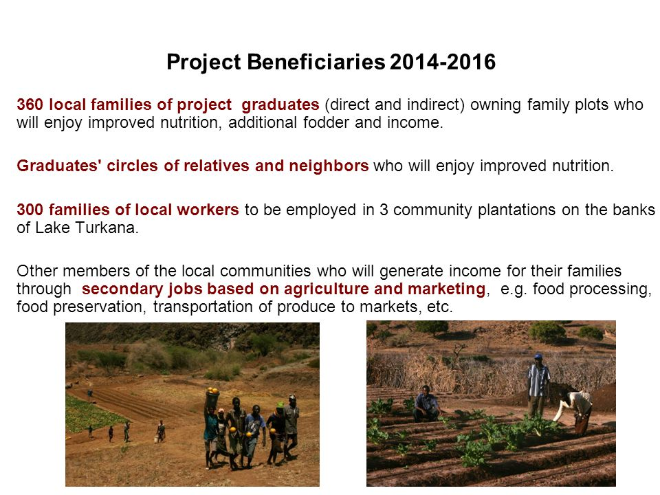 Project Beneficiaries 2014-2016