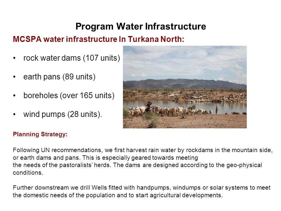 Program Water Infrastructure