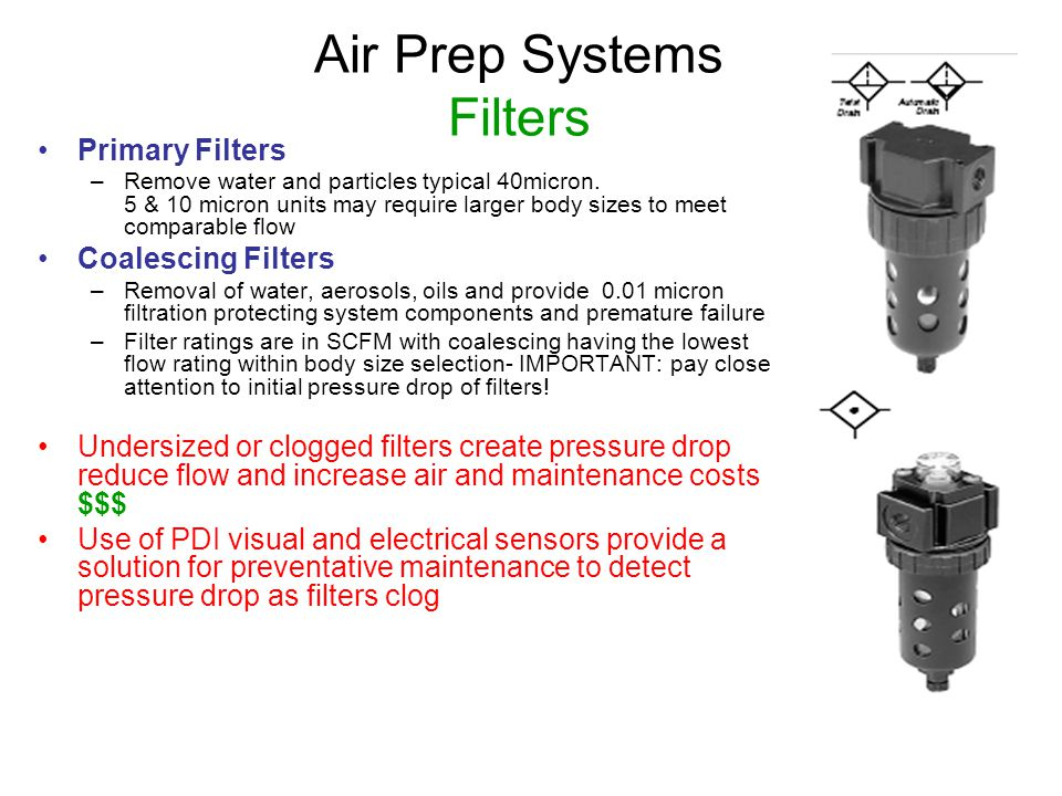 Air Prep Systems Filters