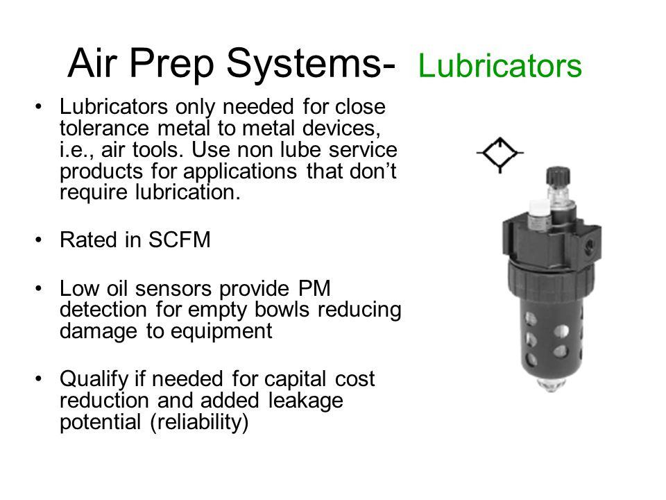 Air Prep Systems- Lubricators