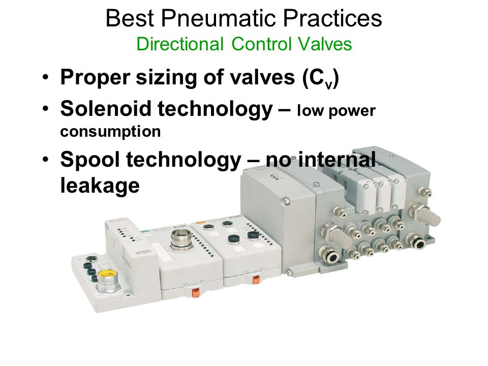 Best Pneumatic Practices Directional Control Valves