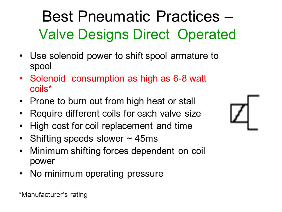 Best Pneumatic Practices – Valve Designs Direct Operated