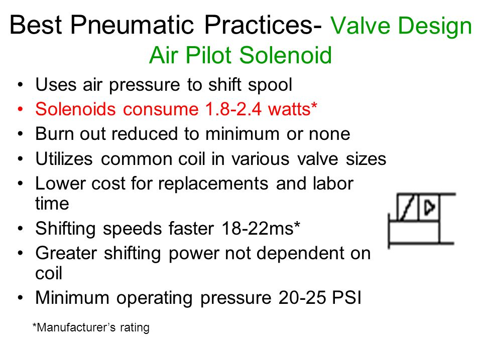 Best Pneumatic Practices- Valve Design Air Pilot Solenoid