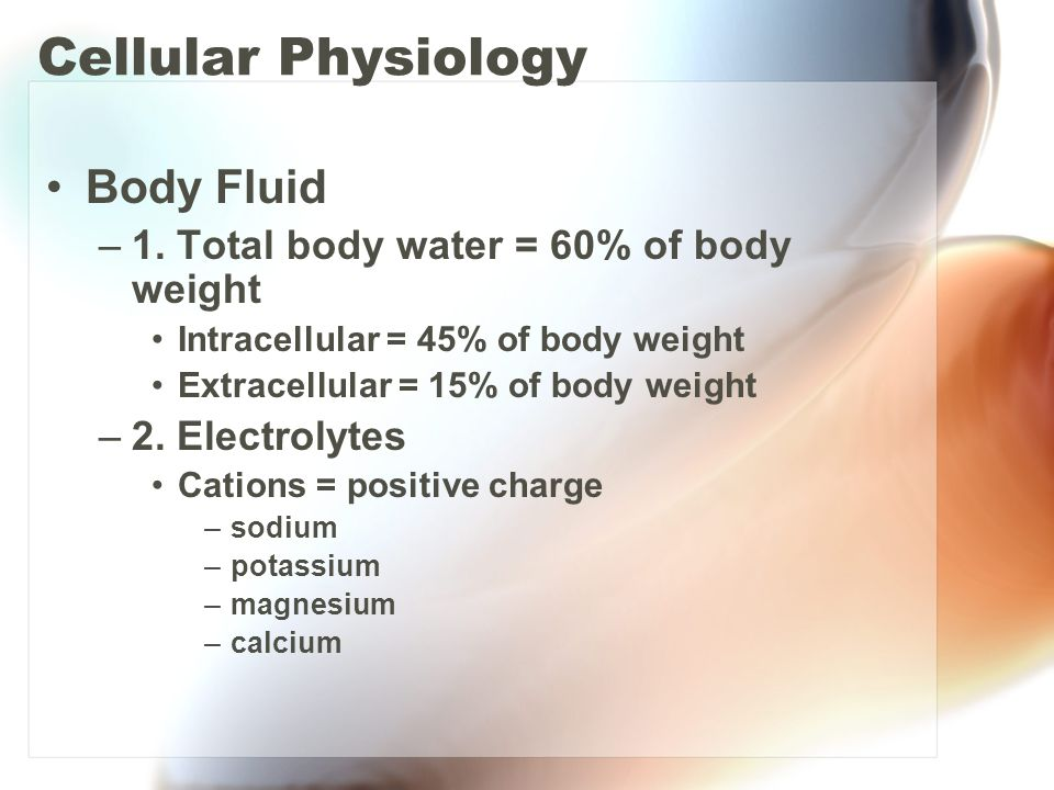 Cellular Physiology Body Fluid