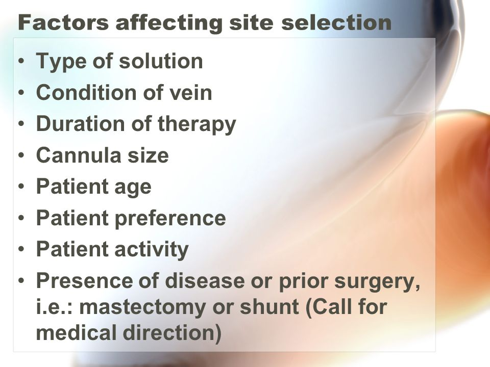 Factors affecting site selection