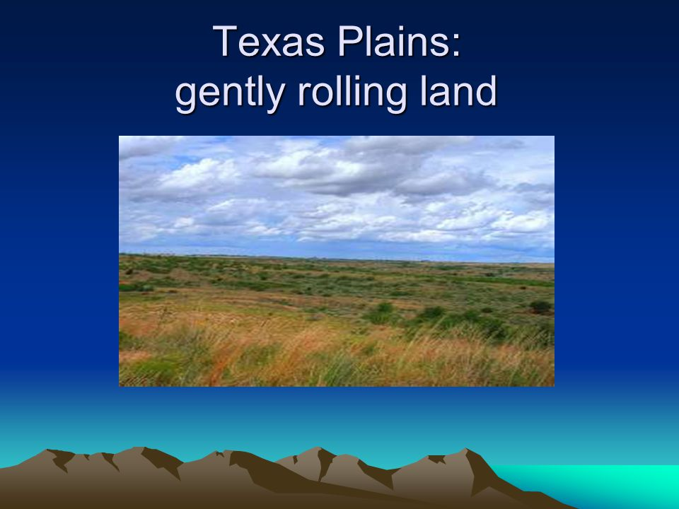 Texas Plains: gently rolling land