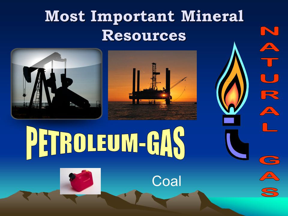 Most Important Mineral Resources