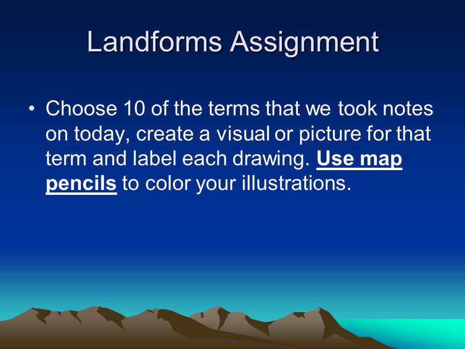 Landforms Assignment