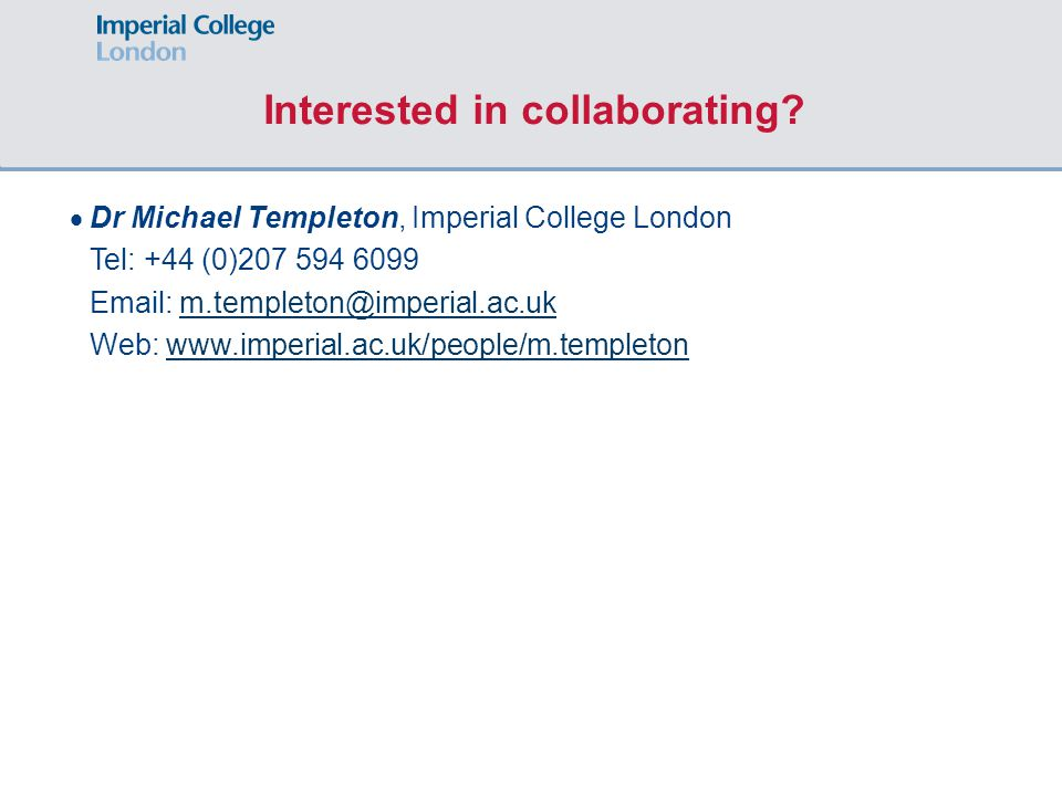 Interested in collaborating