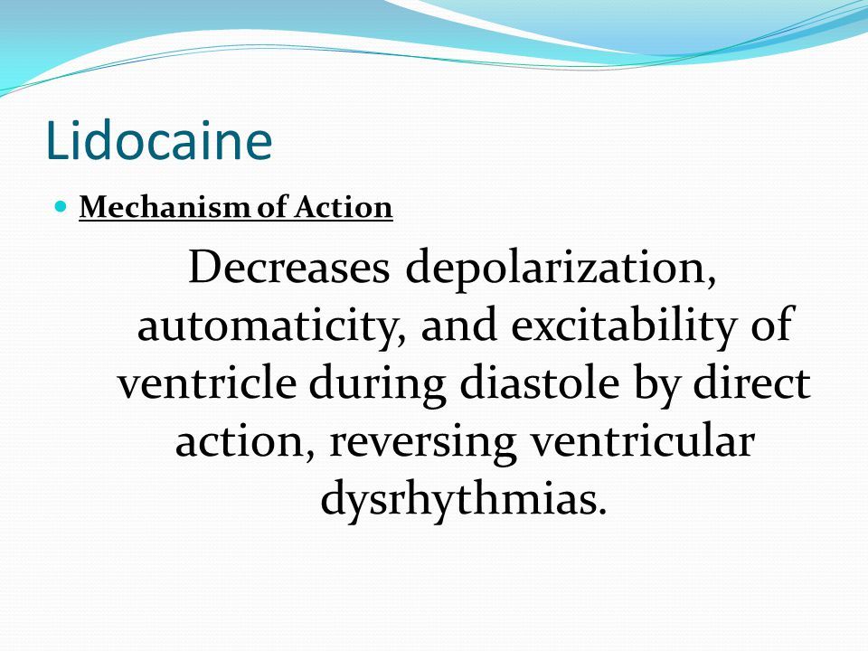 Lidocaine Mechanism of Action.