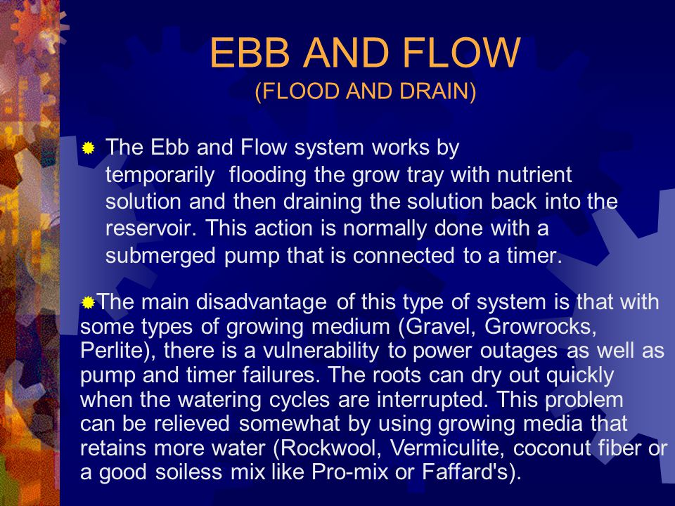 EBB AND FLOW (FLOOD AND DRAIN)
