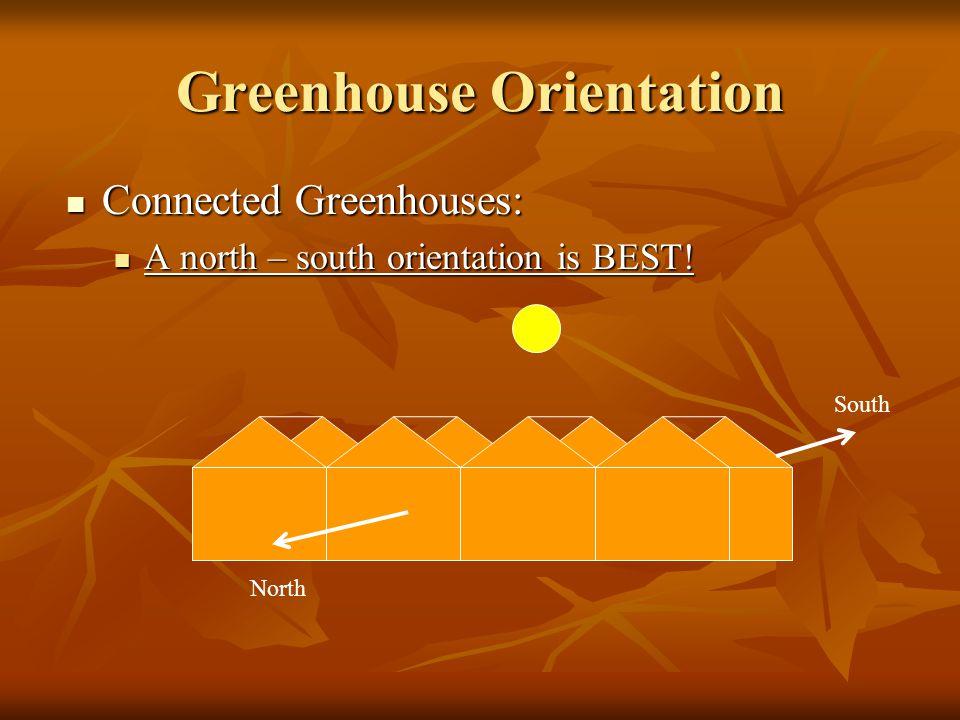 Greenhouse Orientation