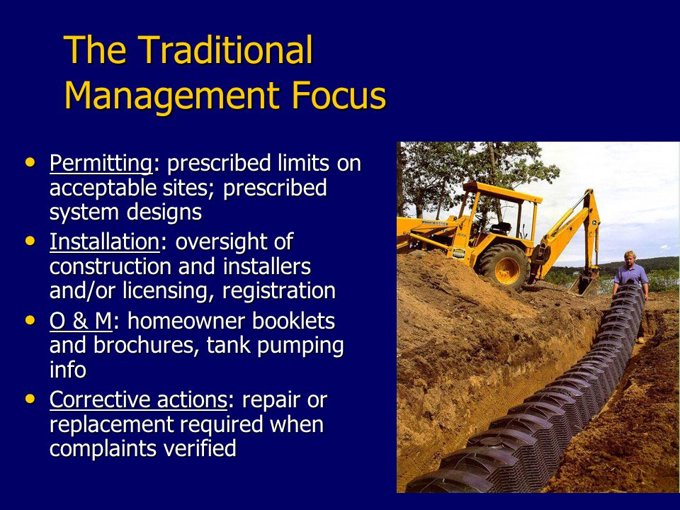 The Traditional Management Focus