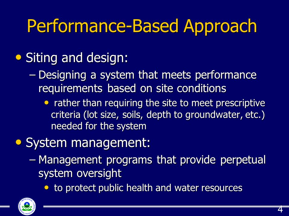 Performance-Based Approach
