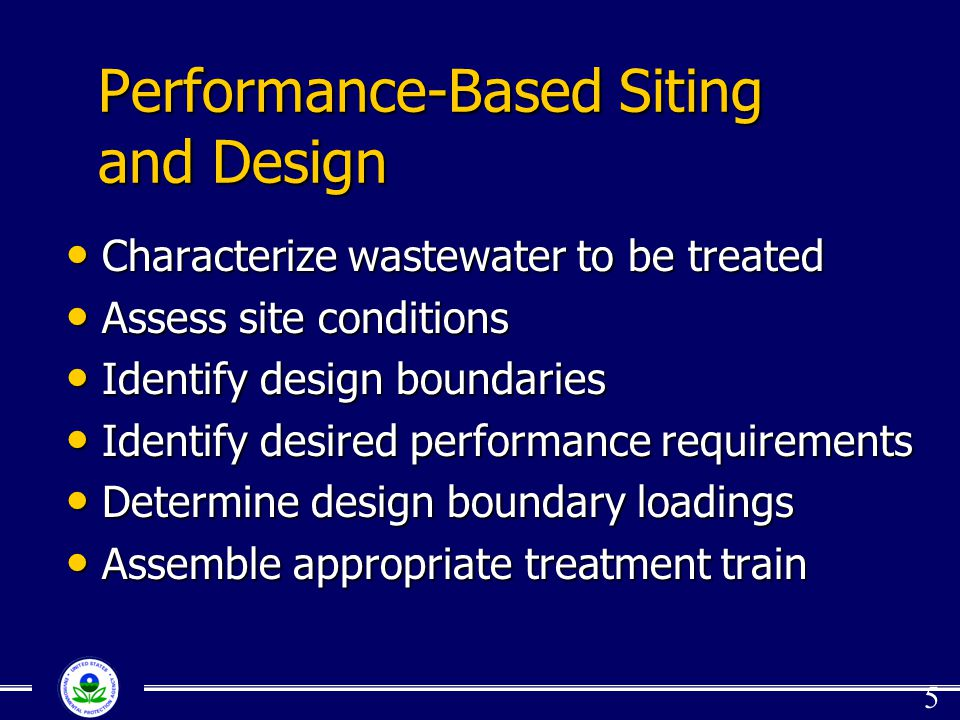 Performance-Based Siting and Design