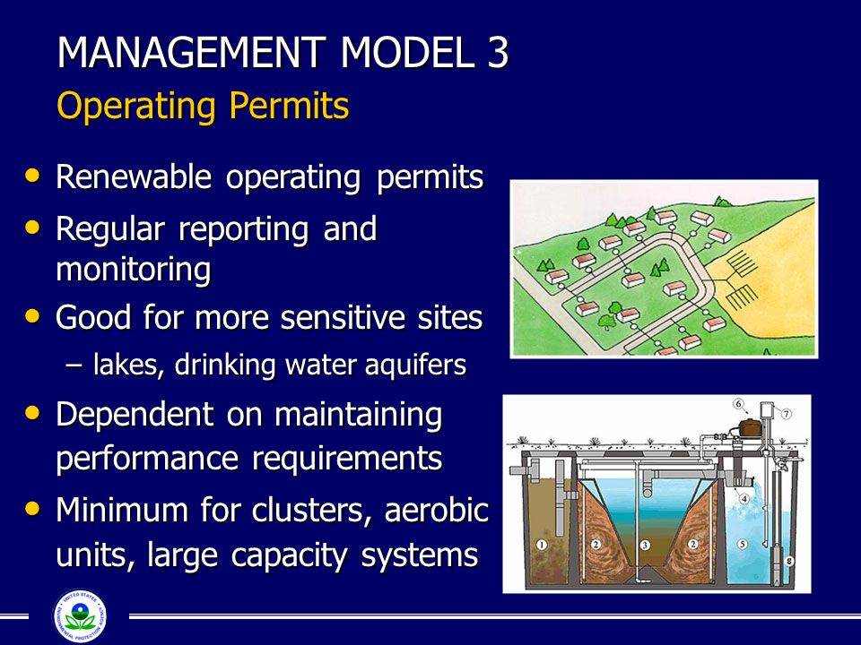 MANAGEMENT MODEL 3 Operating Permits