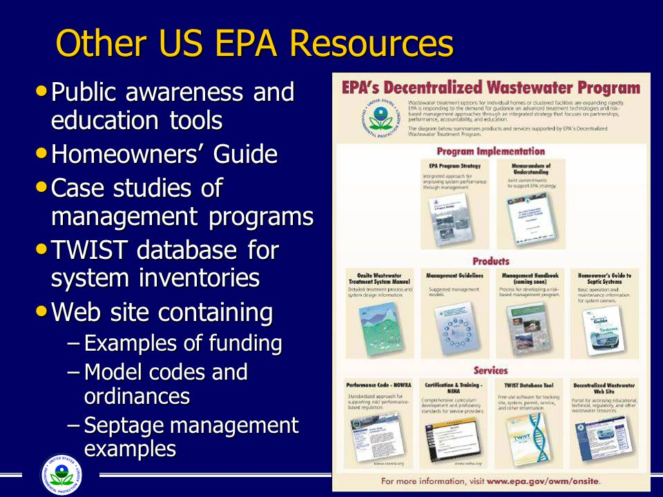 Other US EPA Resources Public awareness and education tools