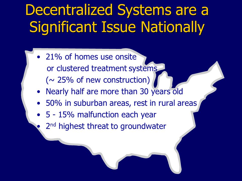 Decentralized Systems are a Significant Issue Nationally