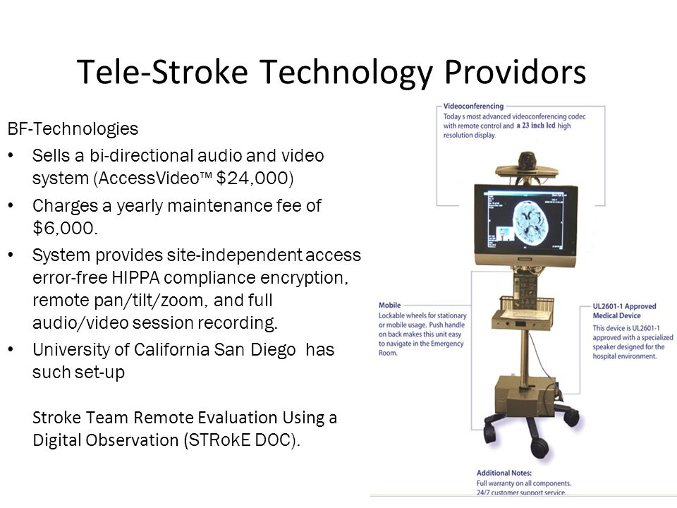 Tele-Stroke Technology Providors