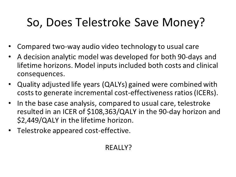 So, Does Telestroke Save Money