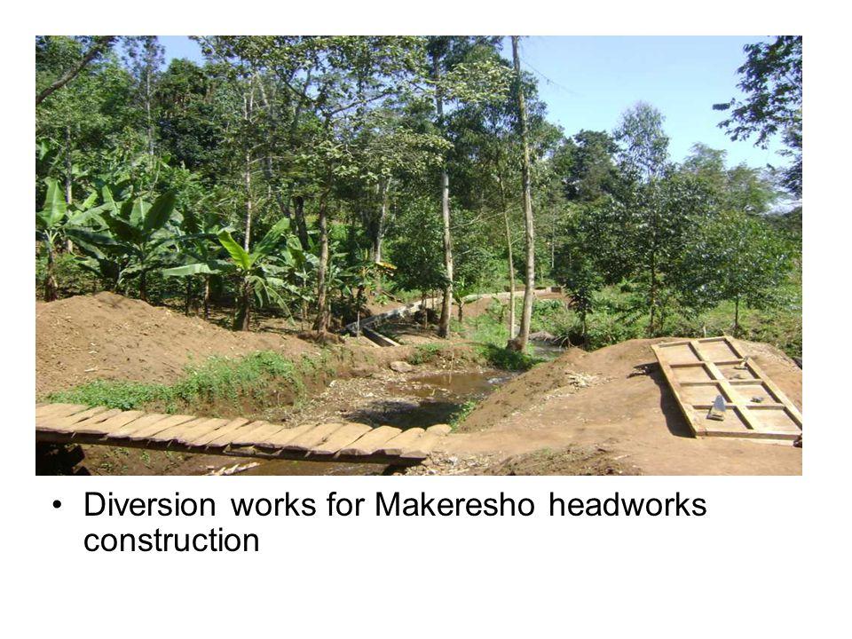 Diversion works for Makeresho headworks construction