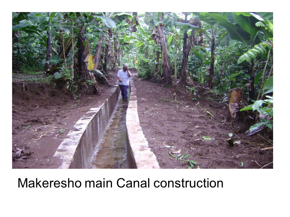 Makeresho main Canal construction