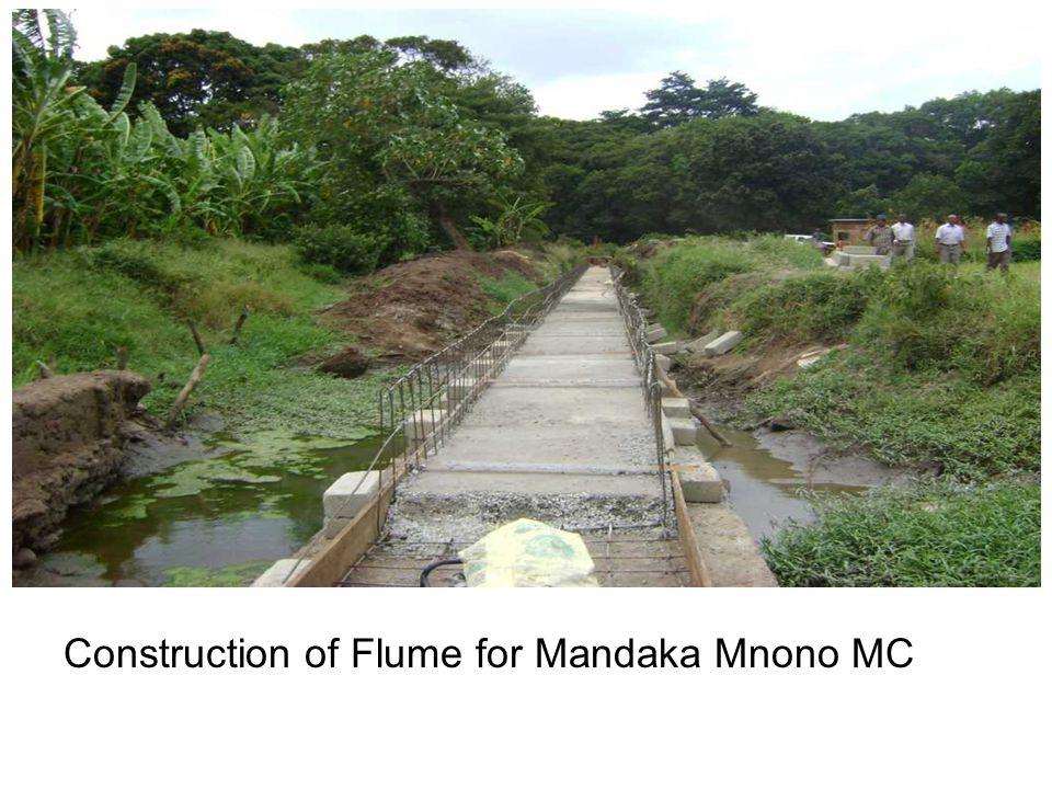 Construction of Flume for Mandaka Mnono MC