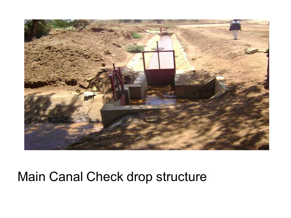 Main Canal Check drop structure