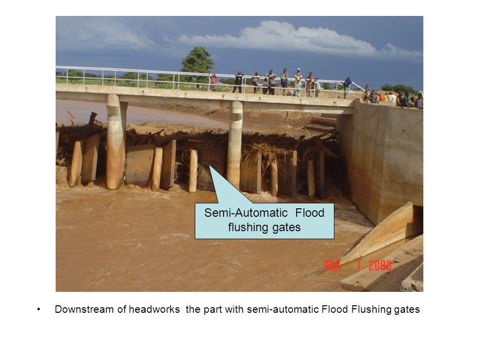Semi-Automatic Flood flushing gates