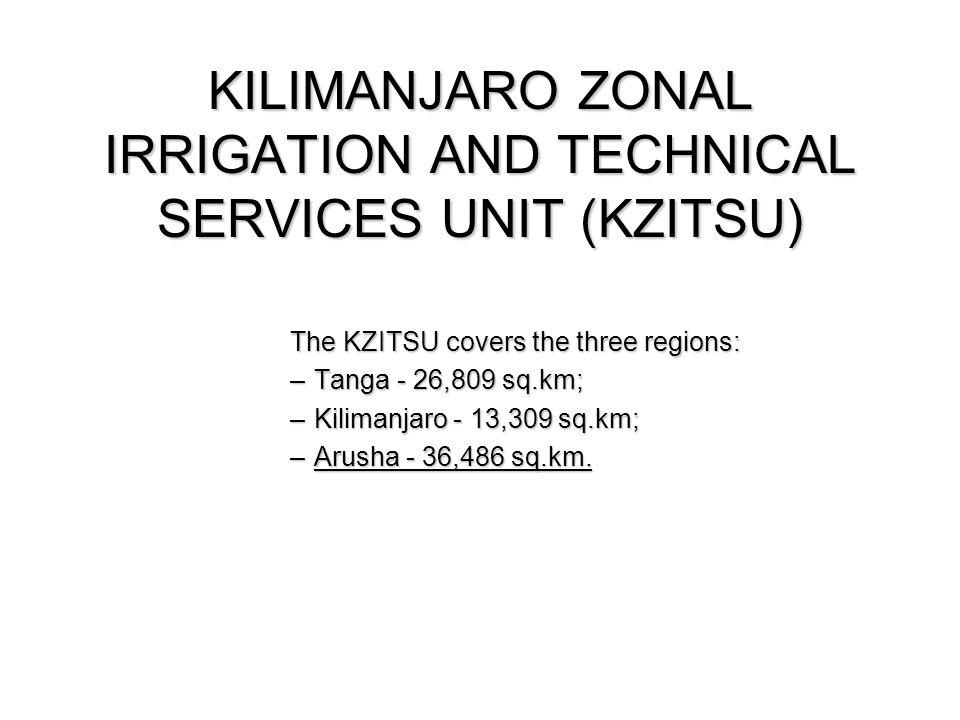 KILIMANJARO ZONAL IRRIGATION AND TECHNICAL SERVICES UNIT (KZITSU)