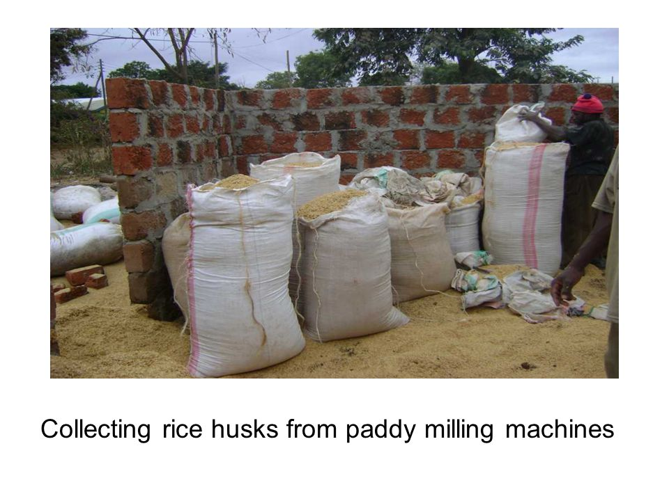 Collecting rice husks from paddy milling machines
