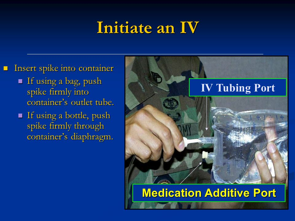 Medication Additive Port