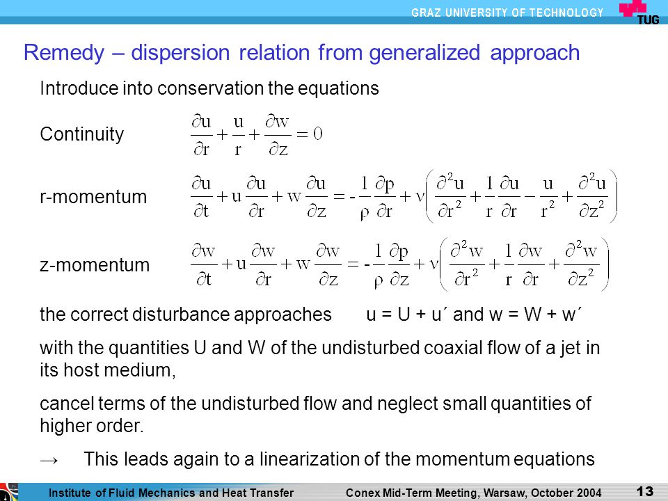Remedy – dispersion relation from generalized approach