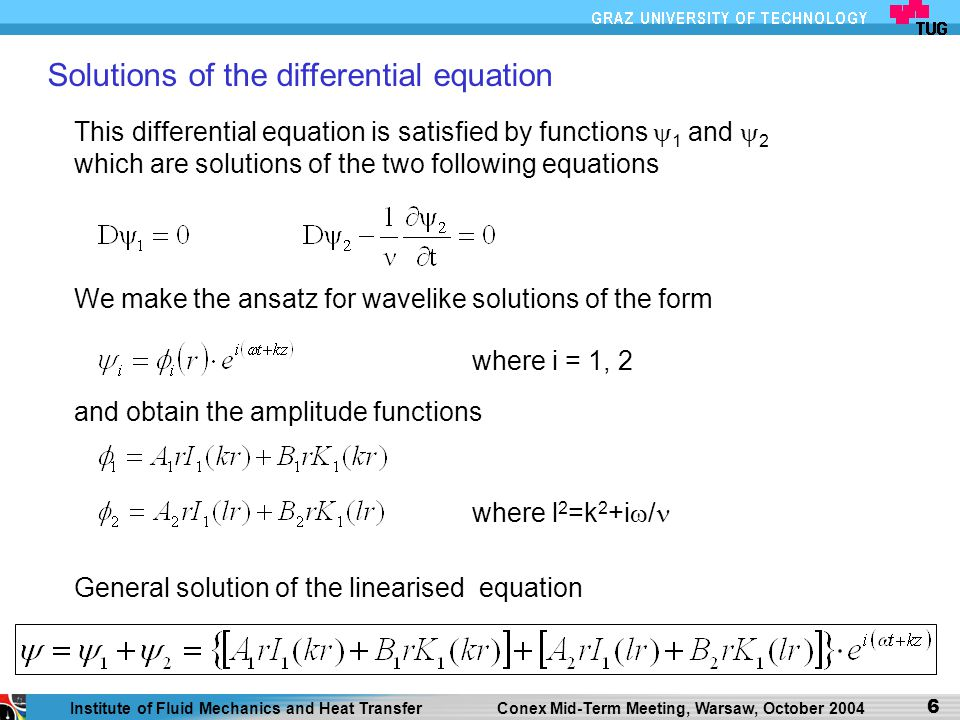Solutions of the differential equation