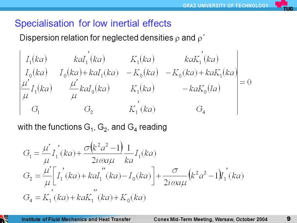 Specialisation for low inertial effects