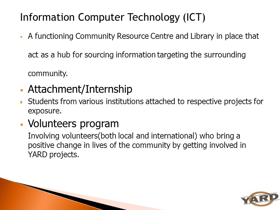 Information Computer Technology (ICT)