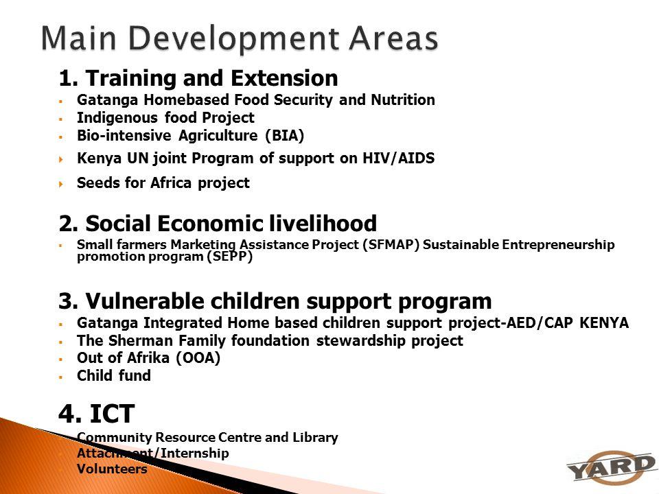 Main Development Areas