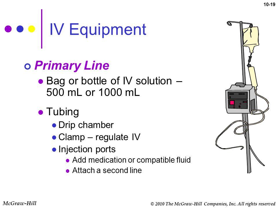IV Equipment Primary Line