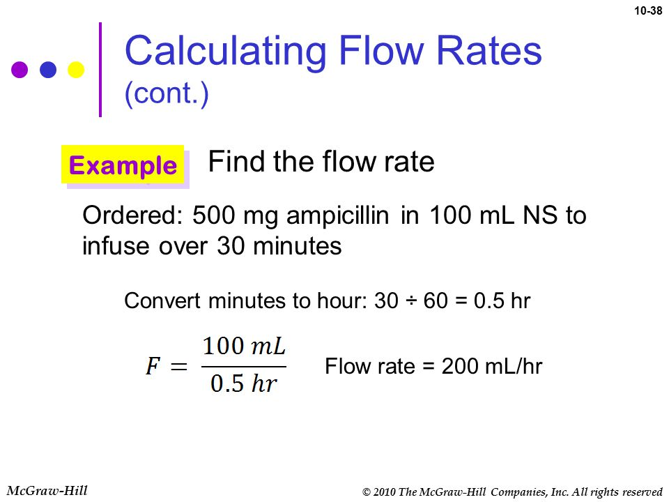 Calculating Flow Rates (cont.)