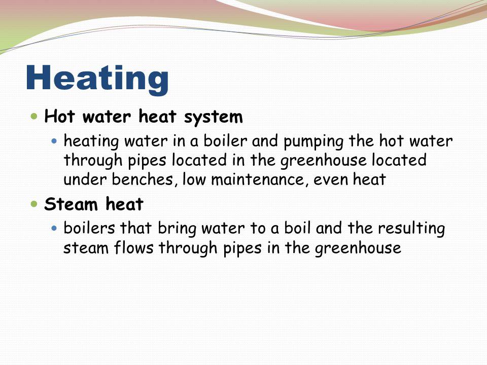 Heating Hot water heat system Steam heat