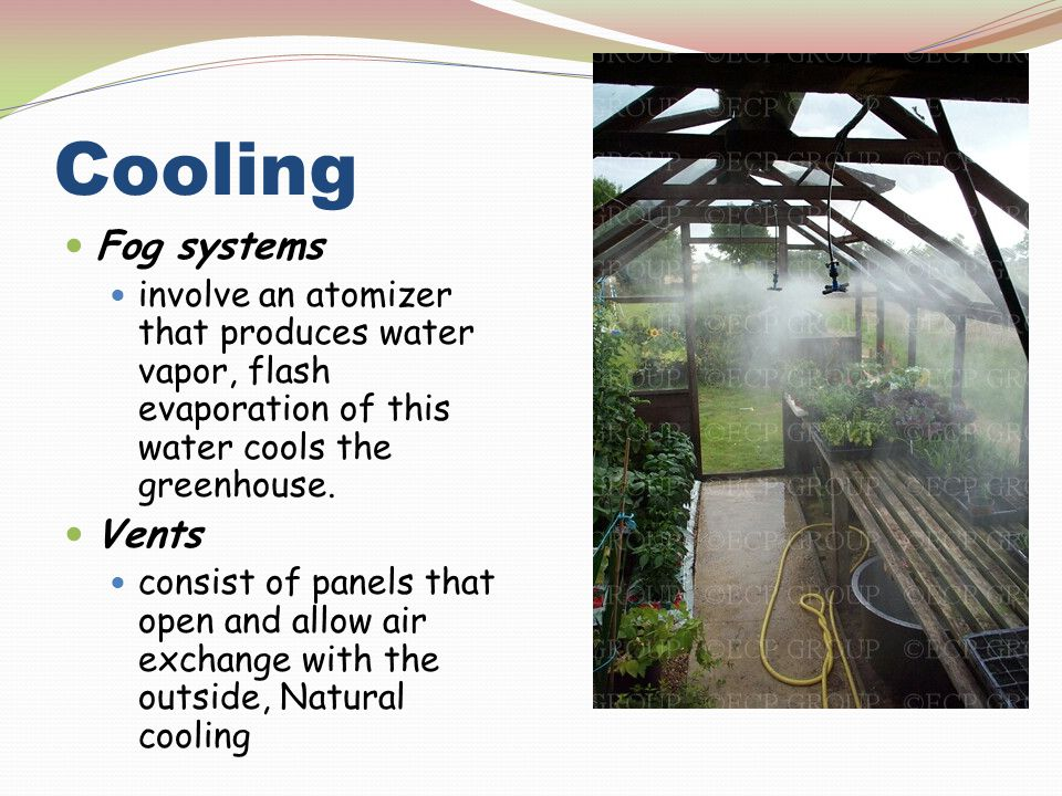 Cooling Fog systems Vents