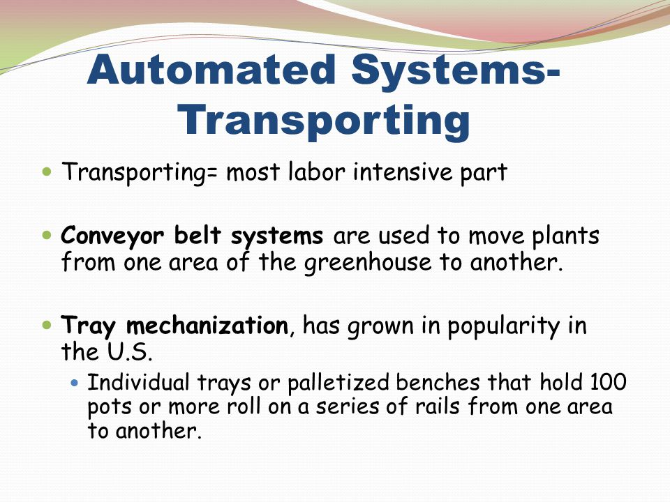 Automated Systems- Transporting